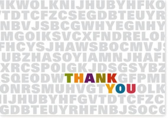 Alphabet Soup Thank You Notes By Peter Pauper Press (EDT)
